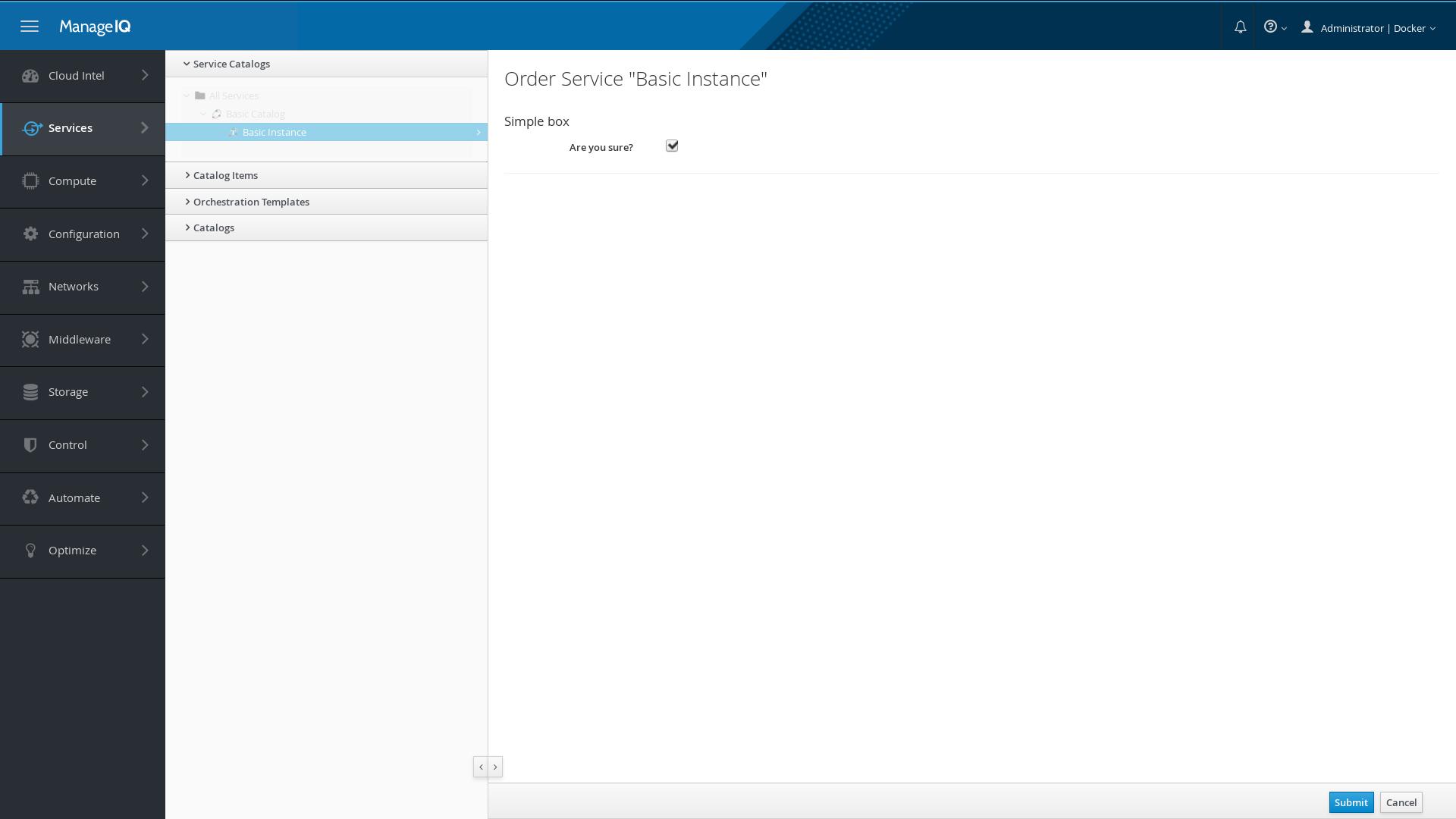 ManageIQ - Create A Self-service Catalog Item